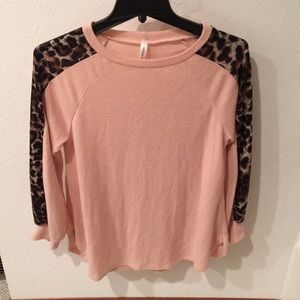 Pink and cheetah sweater
